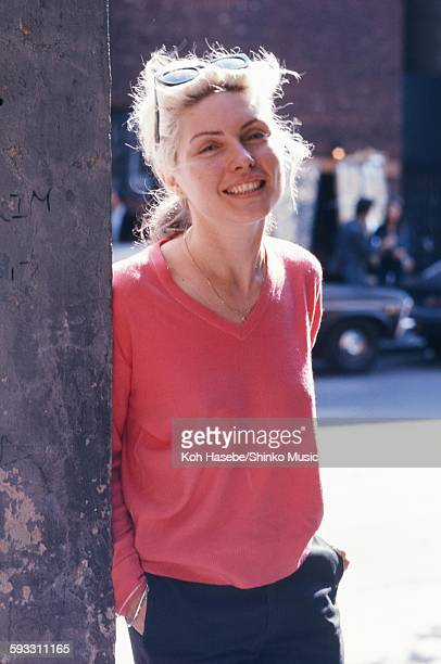 Deborah Harry in the city of London London 1978