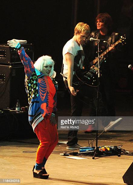 Deborah Harry , lead singer of 80's rock band Blondie, performs during the Bilbao BBK Life music festival, on July 7 in the northern Spanish Basque...