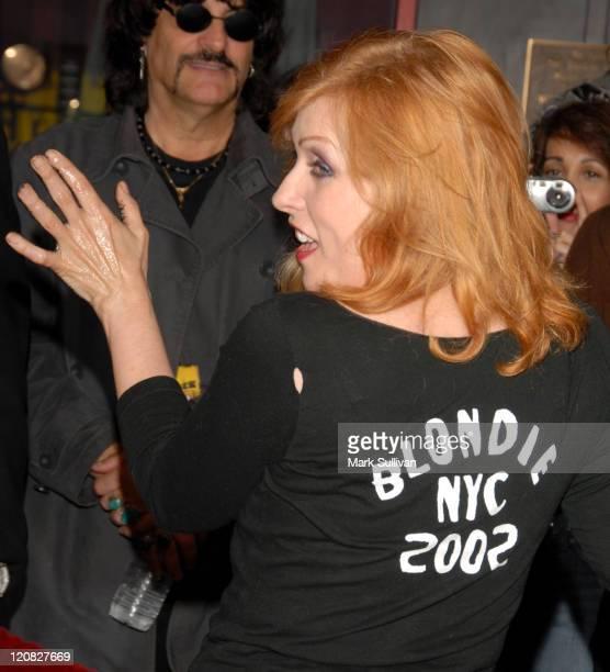 Deborah Harry of Blondie during Blondie Inducted Into Hollywood's Rockwalk at Hollywood Rockwalk Guitar Center Sunset Blvd in Hollywood California...