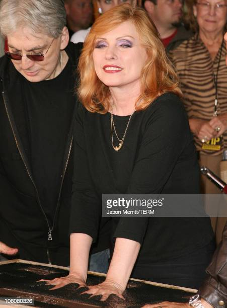 Deborah Harry of Blondie during Blondie Inducted Into Hollywood's Rockwalk May 22 2006 at Guitar Center Sunset Blvd in Hollywood California United...