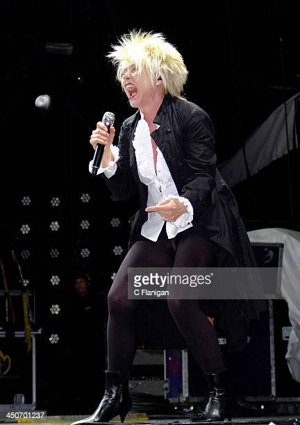 Deborah Harry of Blondie performs during the SalesForce DreamForce conference and the benefit for the UCSF Benioff Children's Hospital at ATT Park on...