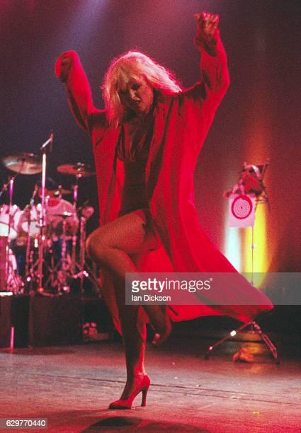 Deborah Harry performing on stage at Brixton Academy London 03 June 1990