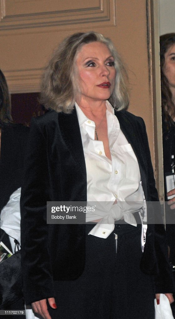 Deborah Harry seen leaving the Almay Concert to celebrate the Rainforest Fund's 21st birthday at Carnegie Hall in Manhattan on May 13, 2010 in New York City.
