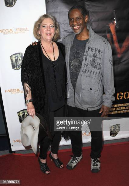 Deborah Hartwell and Tim Russ arrive for the Los Angeles Premiere of 'Miles To Go' held at Writers Guild Theater on April 5 2018 in Beverly Hills...