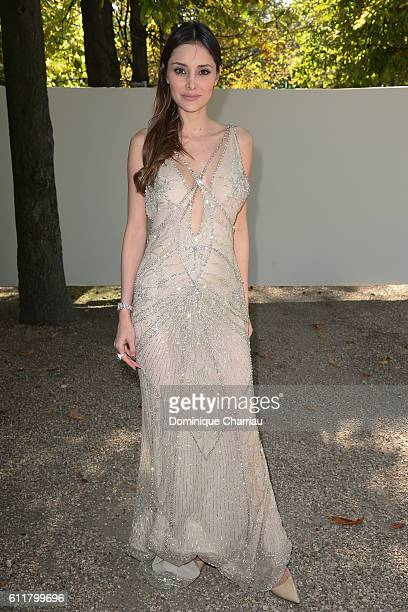 Deborah Hung attends the Elie Saab show as part of the Paris Fashion Week Womenswear Spring/Summer 2017 on October 1 2016 in Paris France