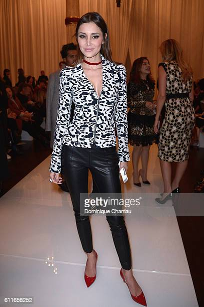 Deborah Hung attends the Emanuel Ungaro show as part of the Paris Fashion Week Womenswear Spring/Summer 2017 on September 30 2016 in Paris France
