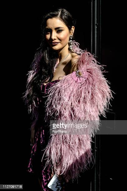 Deborah Hung outside of the Dolce e Gabbana fashion show during the Milan Fashion Week on February 24 2019