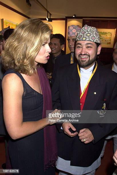 Deborah Hutton and Crown Prince Dipendra of Nepal attend a Fred Hollows Foundation function on September 29 2000 in Sydney Australia