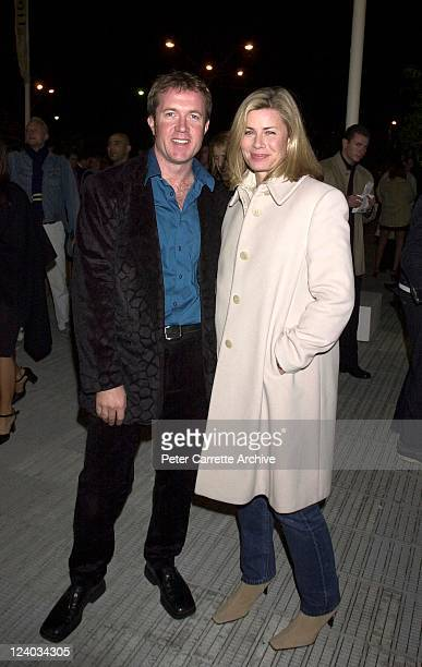 Deborah Hutton and partner arrive for the opening night of the Cirque du Soleil production of 'Alegria' under the Grand Chapiteau at Moore Park on...
