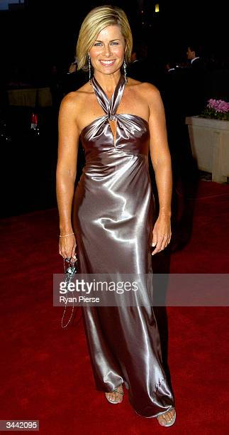 Deborah Hutton attends the 46th Annual TV Week Logie Awards at the Crown Entertainment Complex April 18 2004 in Melbourne Australia
