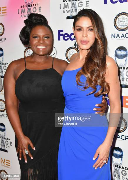 Deborah Joy Winans and Merle Dandridge at the 49th NAACP Image Awards NonTelevised Awards Dinner at the Pasadena Conference Center on January 14 2018...