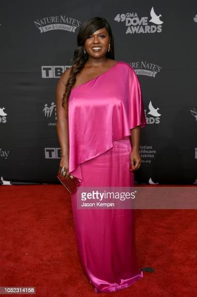 Deborah Joy Winans attends the 49th Annual GMA Dove Awards at Allen Arena Lipscomb University on October 16 2018 in Nashville Tennessee
