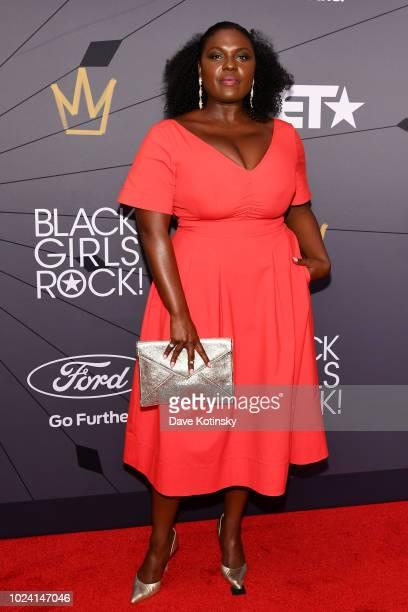 Deborah Joy Winans attends the Black Girls Rock 2018 Red Carpet at NJPAC on August 26 2018 in Newark New Jersey
