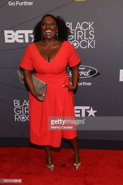 Deborah Joy Winans attends the Black Girls Rock 2018 Red Carpet at New Jersey Performing Arts Center on August 26 2018 in Newark New Jersey