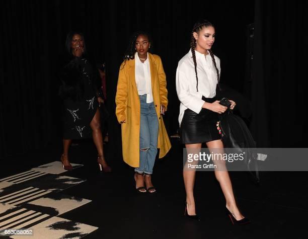 Deborah Joy Winans Lovie Simone and Desiree Ross arrive at Greenleaf Season 2 Premiere at W Atlanta Midtown on March 13 2017 in Atlanta Georgia