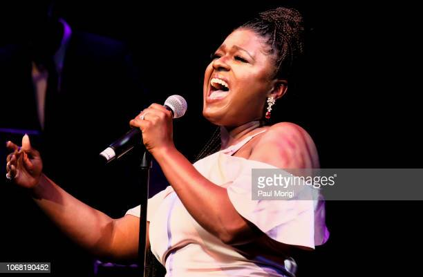 Deborah Joy Winans performs during the 2018 Thelonious Monk Institute Of Jazz International Piano Competition at the Kennedy Center Eisenhower...