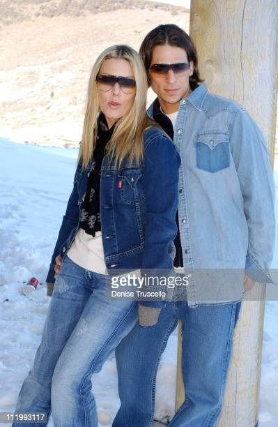 Deborah Kara Unger and Chris Cirillo during 2004 Park City Levi's House at Levi's House in Park City Utah United States