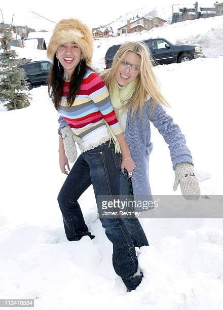 Deborah Kara Unger and guest during 2004 Park City 7 For All Mankind Jeans House at Main Street Mall in Park City Utah United States