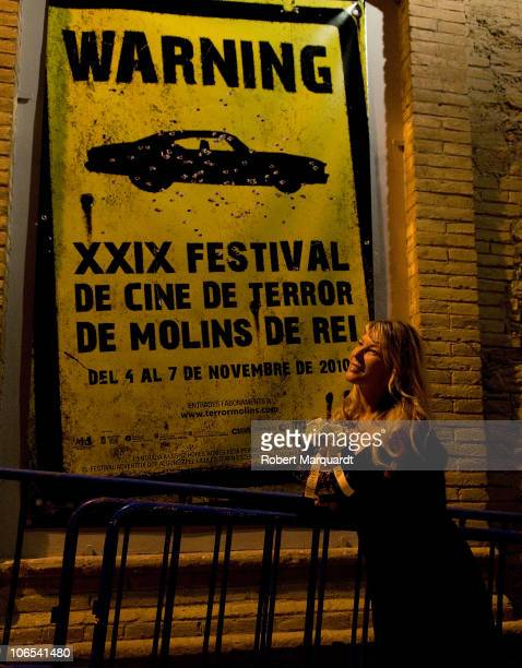 Deborah Kara Unger presents the David Cronenberg film 'Crash' at the Theater Peni on November 4 2010 in Molins de Rei Spain