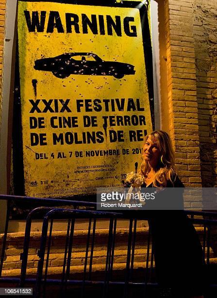 Deborah Kara Unger presents the David Cronenberg film 'Crash' at the Theater Peni on November 4 2010 in Molins de Rei Spain