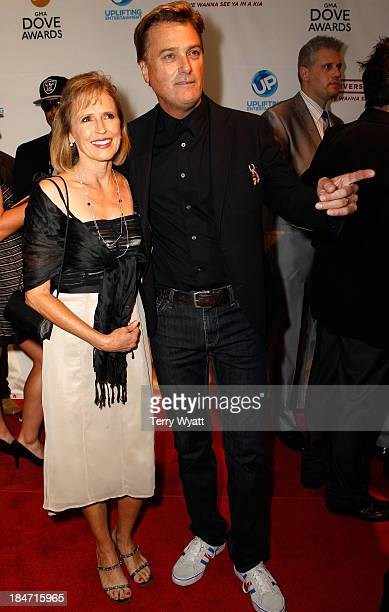 Deborah Kay Davis and Michael W Smith attend the 43rd Annual GMA Dove Awards on October 15 2013 in Nashville Tennessee