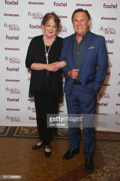 Deborah Kennedy and Frankie J Holden attend the premiere screening event for A Place To Call Home The Final Chapter at State Theatre on August 16...