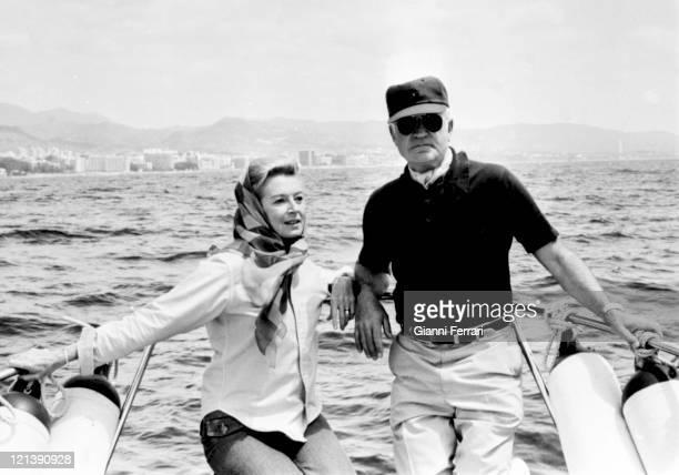 Deborah Kerr and her husband Peter Viertel in Marbella, 25th May 1974, Malaga, Spain.