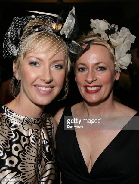 Deborah Knight and Amanda Keller attend the Melbourne Cup party at Royal Randwick on November 6 2007 in Sydney Australia