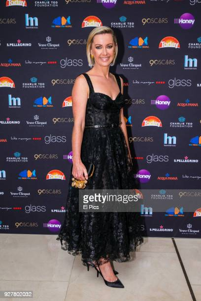 Deborah Knight attends the Channel 9 Charity Oscars lunch raising money for the Charlie Teo Foundation at Glass Restaurant, The Hilton, on March 5,...