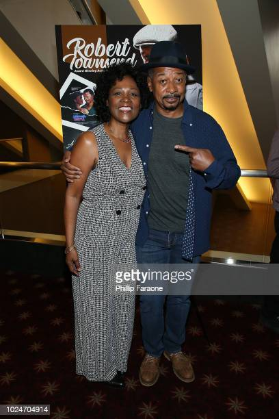Deborah Lacey and Robert Townsend attend a special screening of Robert Townsend's new documentary 'Making The 5 Heartbeats' at AMC Century City 15...