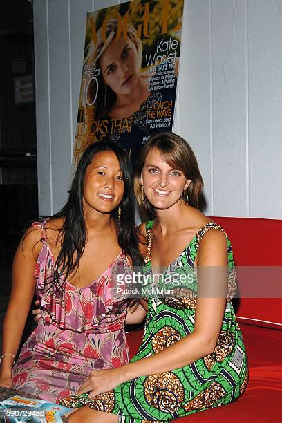 Deborah Lee and Heather Harmon attend Vogue and Cointreau Cocktail Party hosted by Jesse Metcalfe at Star Room on July 16 2005 in Wainscott NY