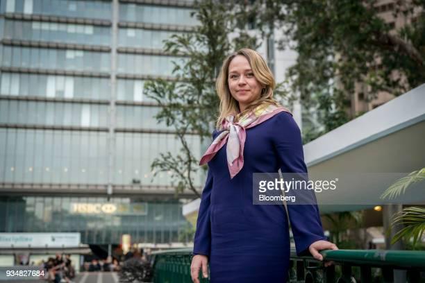 Deborah Leerhsen managing director and cohead of Hong Kong global banking at HSBC Holdings Ltd poses for a photograph in Hong Kong China on Tuesday...