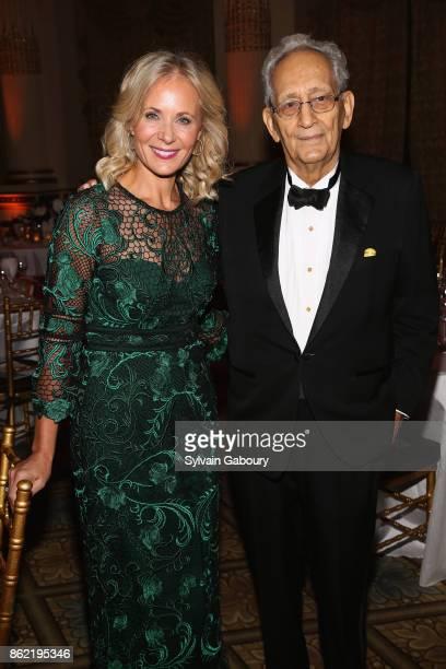 Deborah Lehr and Frank Stella attend World Monuments Fund 2017 Hadrian Gala honoring Frank Stella and Deborah Lehr on October 16 2017 in New York City