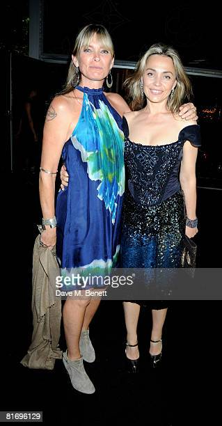 Deborah Leng and actress Jeanne Marine attend the Louis Vuitton Richard Prince dinner hosted by Marc Jacobs at the Serpentine Gallery June 24 2008 in...
