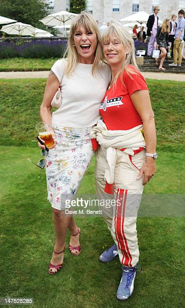 Deborah Leng and Anette Mason attend the Cartier Style Luxury Lunch Reception at the Goodwood Festival of Speed on July 1 2012 in Chichester England