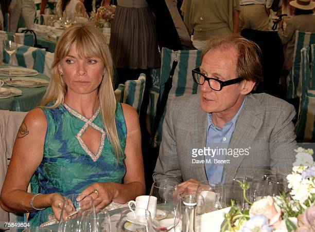 Deborah Leng and Bill Nighy attend the annual Cartier International Polo Day at the Cartier Marquee in Great Windsor Park on July 29 2007 in Windsor...