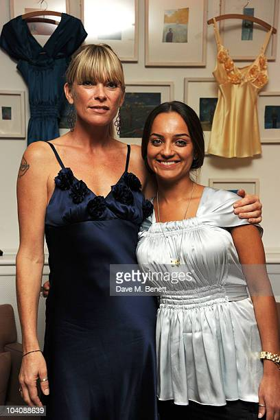 Deborah Leng and Fabiola de Freitas attend the Fab Couture party at Mortons on September 14 2010 in London England