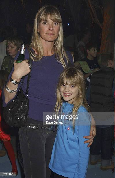 Deborah Leng and her daughter Tiger Lily Taylor attend the UK Premiere Party for Peter Pan The Movie on the Embankment on December 10 2003 in London