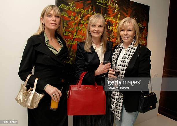 Deborah Leng and Jan de Villeneuve attend the private view of Rene Ricard's latest exhibition 'What Every Young Sissy Should Know' at the Scream...