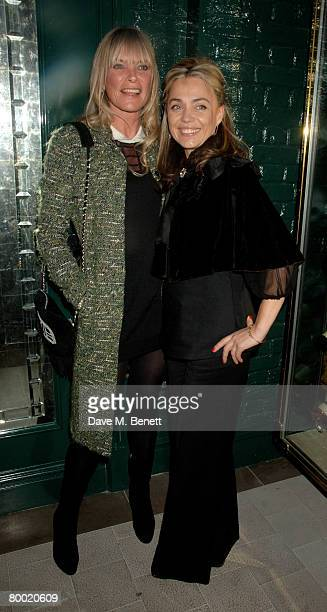 Deborah Leng and Jeanne Marine attend the launch party of the Dom Perignon OEnotheque 1995 hosted by Dom Perignon and Claudia Schiffer at The Landau...