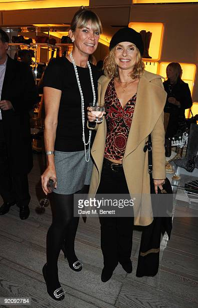 Deborah Leng and Maryam D'Abo attend the A Princess To Be A Queen party in aid of Clic Sargent at Roger Vivier on October 20 2009 in London England