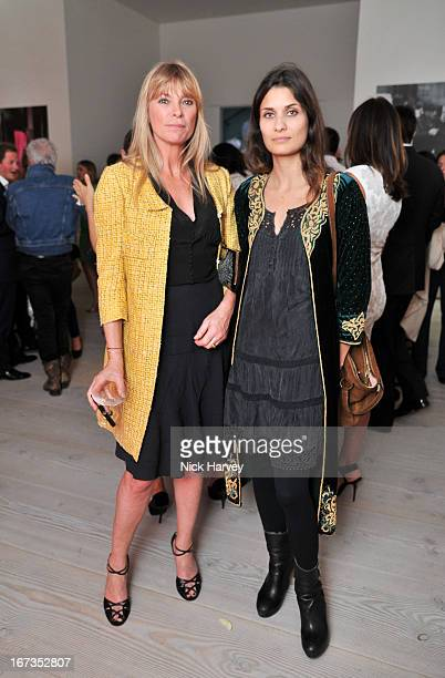 Deborah Leng and Morvarid Sahafi attends the Roger Vivier book launch party at Saatchi Gallery on April 24 2013 in London England