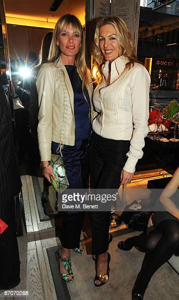 Deborah Leng and Pricilla Waters attend the Roger Vivier Party in aid of The Warrior Programme at Roger Vivier on May 11 2009 in London England