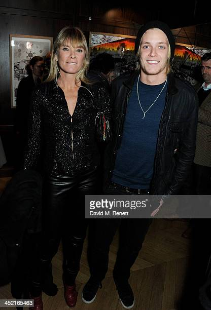 Deborah Leng and Rufus Taylor attend the Project Zoltar 10th anniversary celebration and launch of Zoltar the Magnificent at The Groucho Club on...