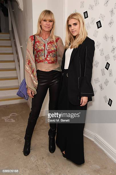 Deborah Leng and Tiger Lily Taylor attend the LiudMila Pre Spring 17 Presentation hosted by Leandra Medine on June 1 2016 in London England