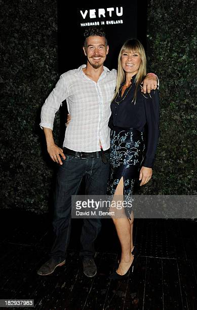 Deborah Leng and Toby Burgess attend the Vertu launch of the new Constellation smartphone at One Mayfair on October 2 2013 in London England