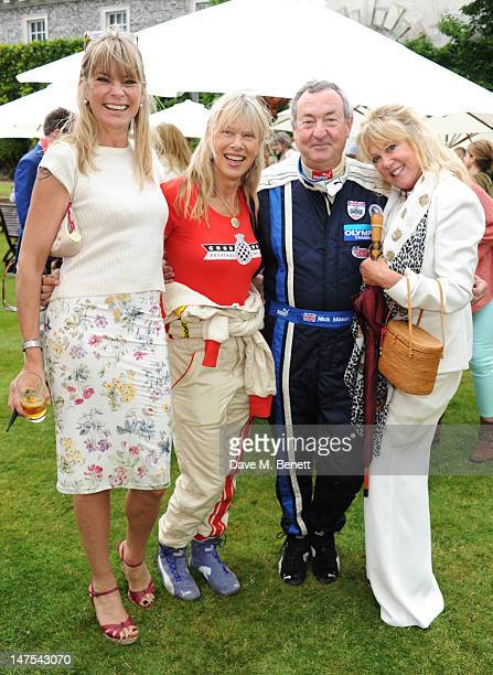 Deborah Leng Annette and Nick Mason and Pattie Boyd attend the Cartier Style Luxury Lunch at the Goodwood Festival of Speed on July 1 2012 in...