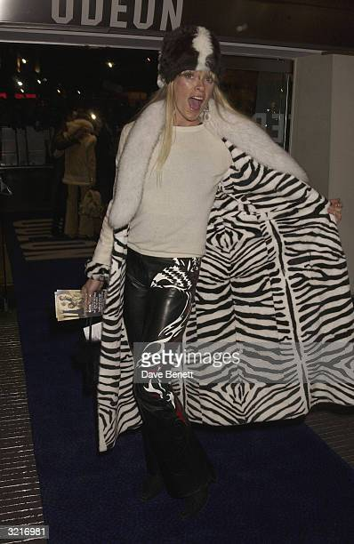 Deborah Leng arrives at the UK Premiere of The Lord Of The Rings The Two Towers held on December 11 2002 at the Odeon Leicester Square in London