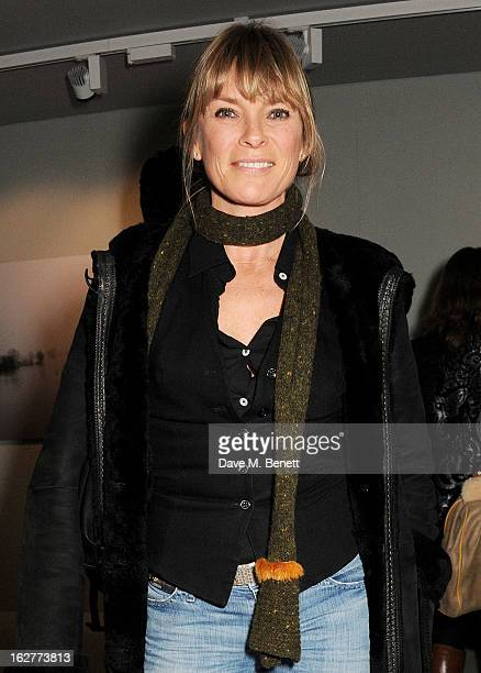Deborah Leng attends a private view of Bill Wyman's new exhibit 'Reworked' at Rook Raven Gallery on February 26 2013 in London England