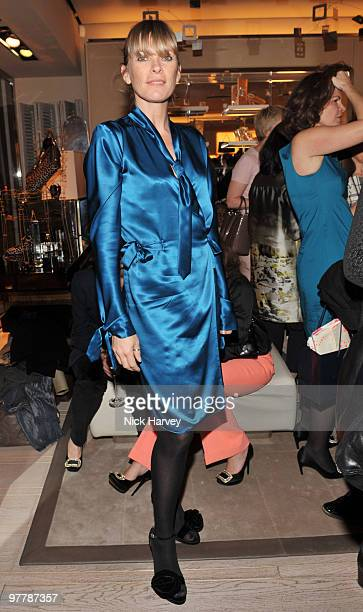 Deborah Leng attends the cocktail party for the launch of the 'Miss Viv' handbag collection by Roger Vivier on March 16 2010 in London England
